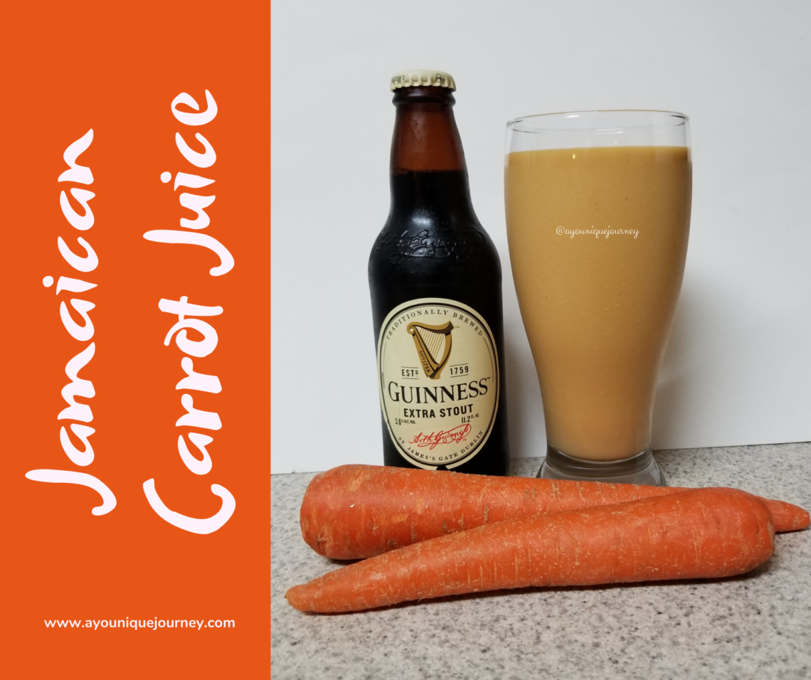 A glass of Jamaican Carrot Juice