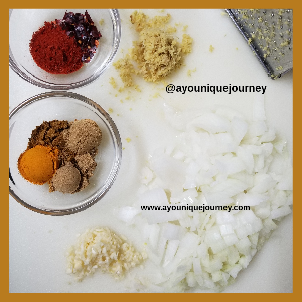 Seasons and herbs for the Chicken Tikka Masala Recipe.