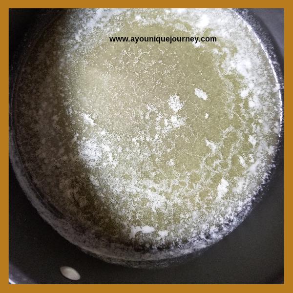 Melted Butter in a medium pot.