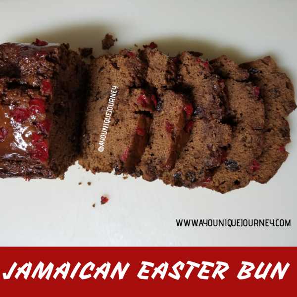 Slices of Jamaican Easter Bun