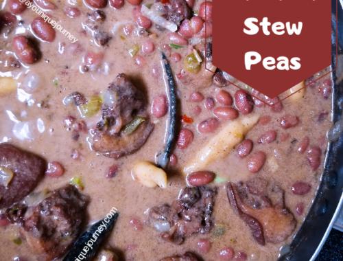 A pot of Stew Peas
