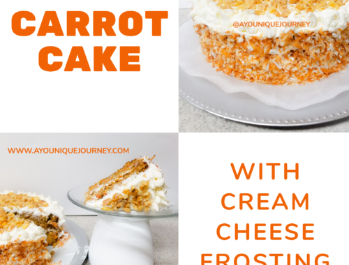 A beautiful, perfectly moist and flavorful Carrot Cake.