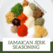 All the herbs and spices that makes up the jamaican jerk seasoning