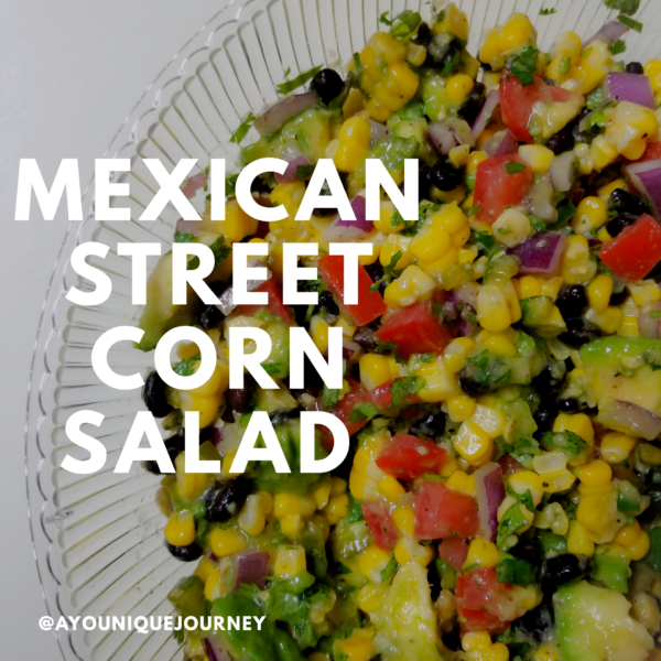 A bowl of the Mexican Corn Salad.