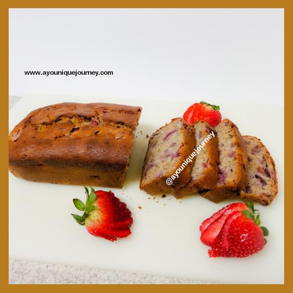 Slices of Strawberry Banana Bread.