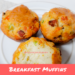 Breakfast Muffins on a plate.