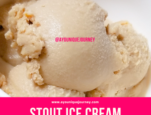Scoops of the Stout Ice Cream in a white bowl.