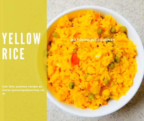 Simple & Easy Yellow Rice