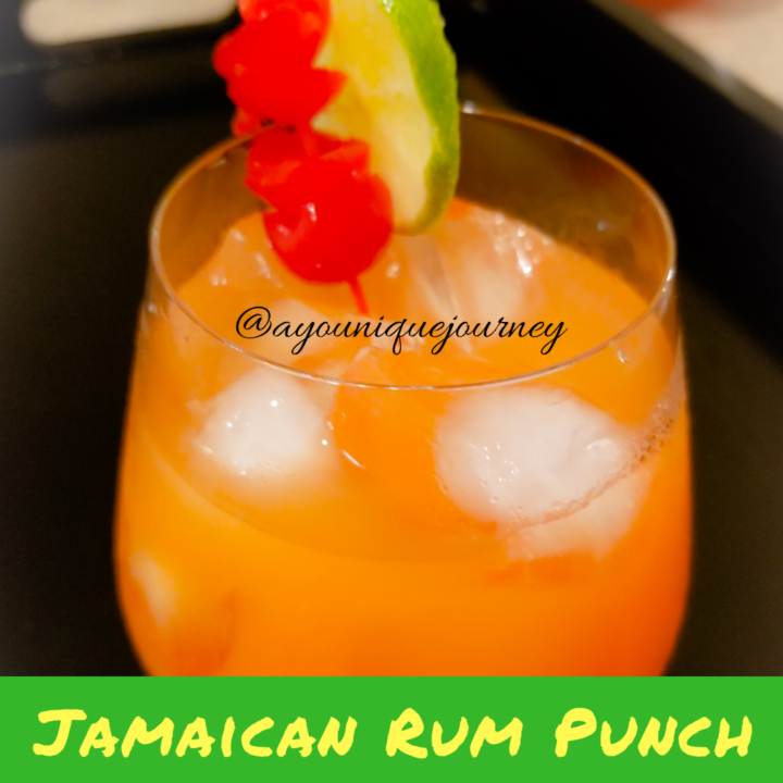 A glass of Jamaican Rum Punch.