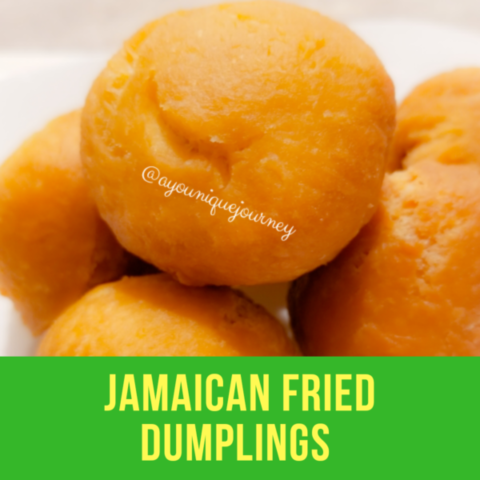 Golden Brown Jamaican Fried Dumplings.