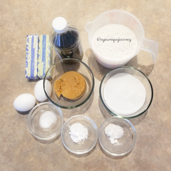 The ingredients to make the Snickerdoodle Cookies.