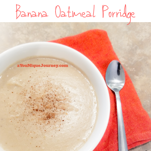 Banana Oatmeal Porridge Recipe