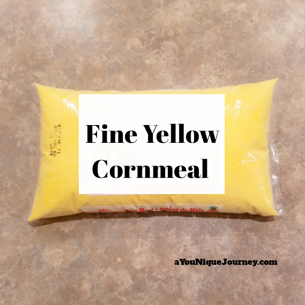 The main ingredient to make the Cornmeal Pudding.