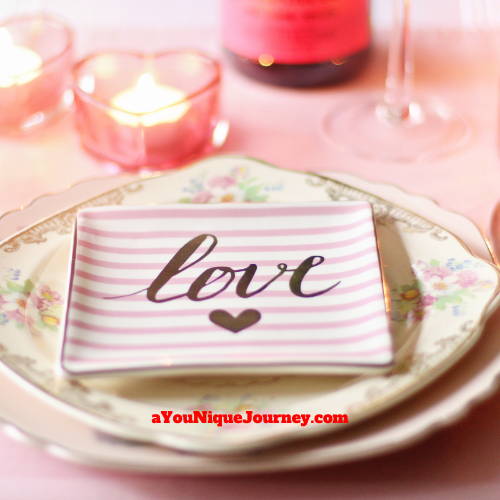 Valentine's Day Gift Ideas - table set for a romantic dinner.