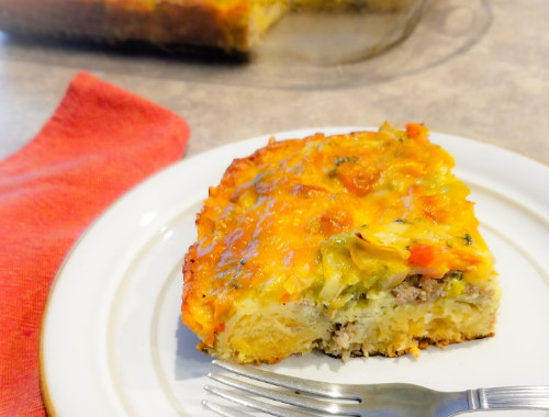 Sausage Eggs Biscuit Breakfast Casserole