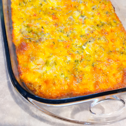 The Sausage, Eggs and Biscuit Casserole.