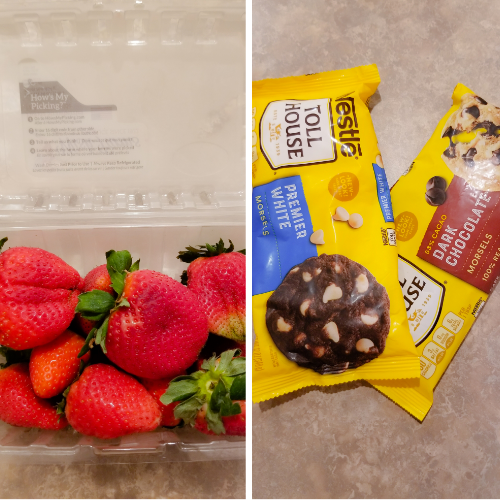 Items to make Chocolate Covered Strawberries.