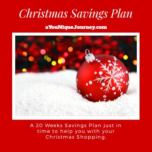 Christmas Savings Plan for 20 weeks