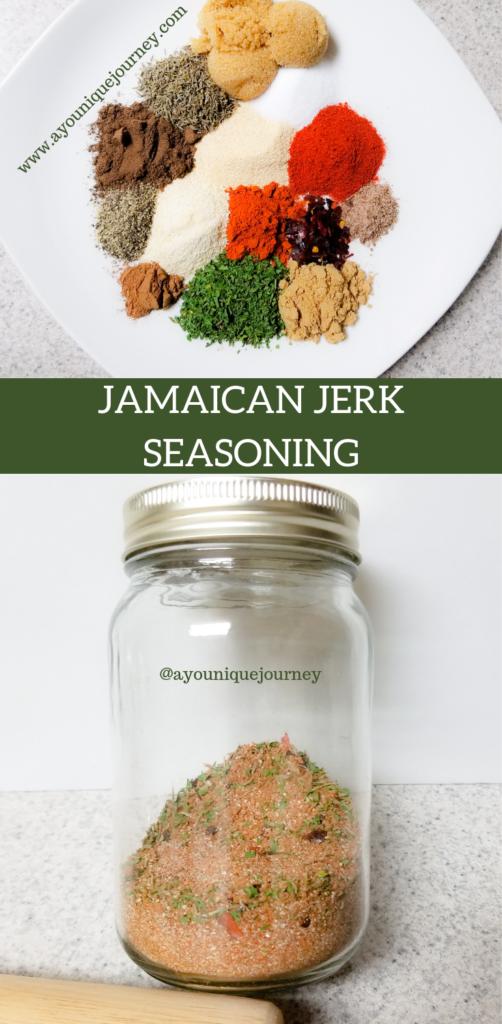 Jamaican Jerk Seasoning, a dry rub spice blend.