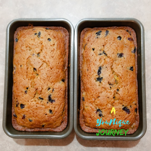 Blueberry Zucchini Bread after baking.