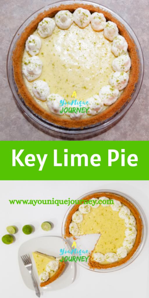 Key Lime Pie Pinterest Image.
