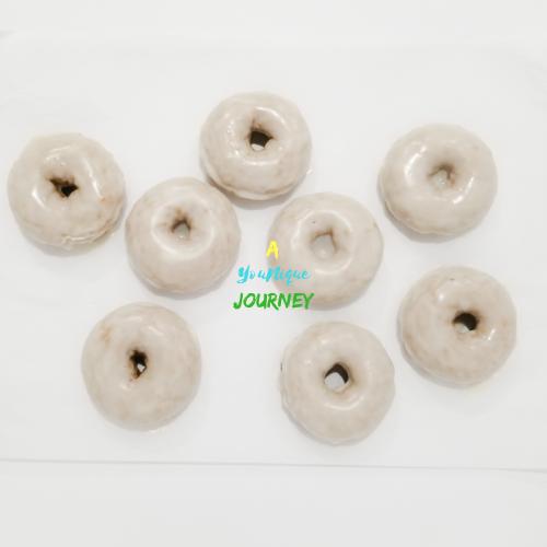 Baked Pumpkin Donuts with vanilla glaze.