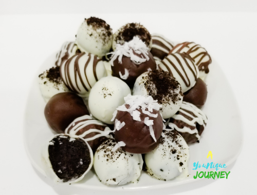 Oreo Balls covered with chocolate