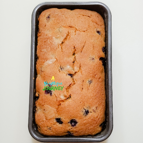 After baking the blueberry bread.