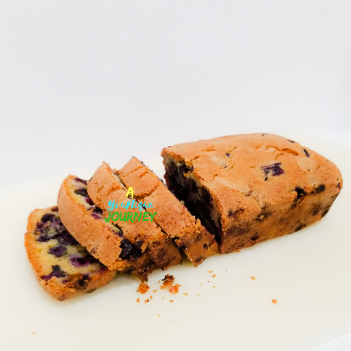 Easy Blueberry Bread Loaf.