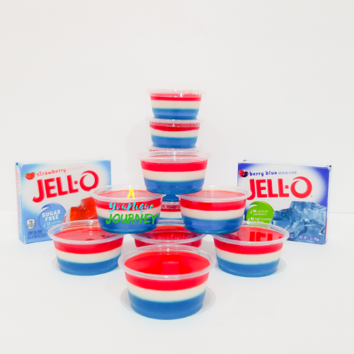 Red White & Blue Jello Shots.