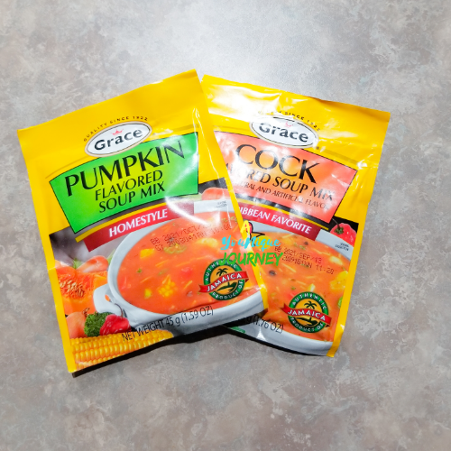 Soup Mixes used to make the Jamaican Chicken Pumpkin Soup.
