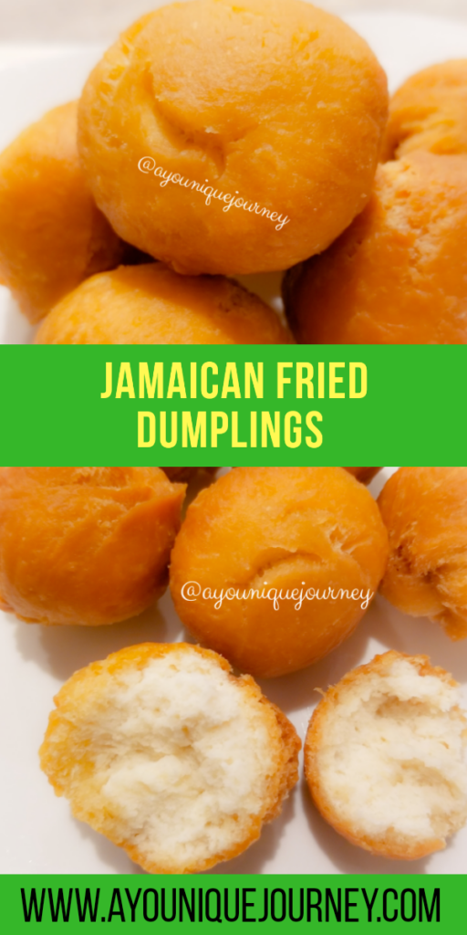 Pinterest Image for Jamaican Fried Dumplings Recipe. Pin for later.